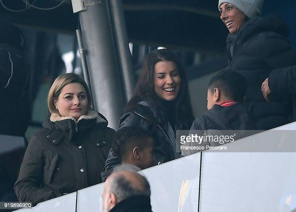 Ludivine Kadri Sagna wife of Bacary Sagna during the serie A match between Benevento Calcio and FC Crotone at Stadio Ciro Vigorito on February 18...