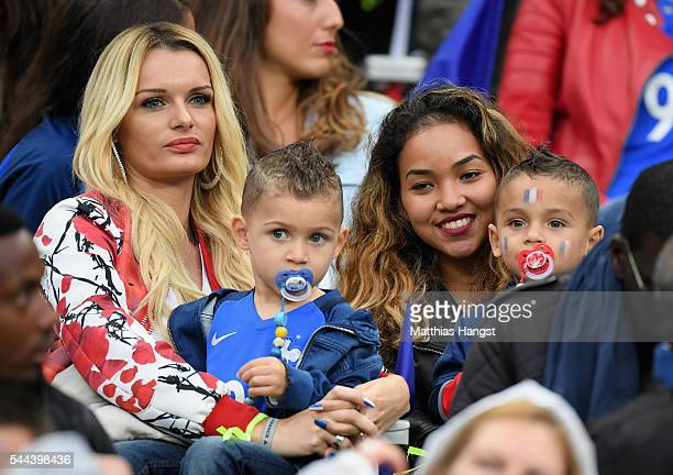Ludivine Payet wife of Dimitri Payet of France is seen in the stand prior to the UEFA EURO 2016 quarter final match between France and Iceland at...