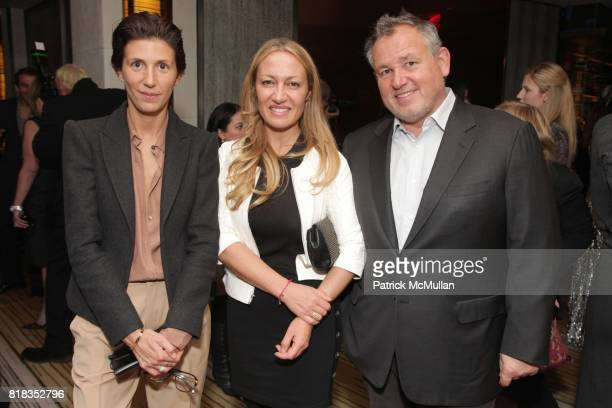 Ludivine Poiblanc Diana Picasso and Fabien Baron attend CHANEL DINNER IN HONOR OF VANESSA PARADIS FOR ROUGE COCO at the Mark Hotel on February 9 2010...