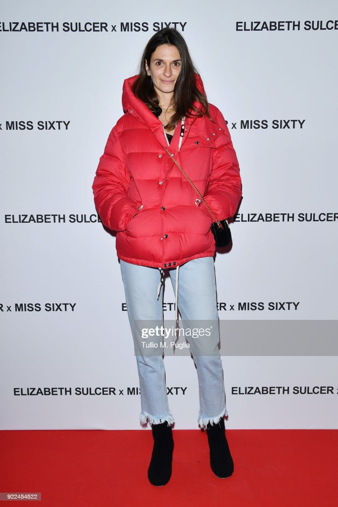Ludivine Pont attends ELIZABETH SULCER X MISS SIXTY on February 21, 2018 in Milan, Italy.