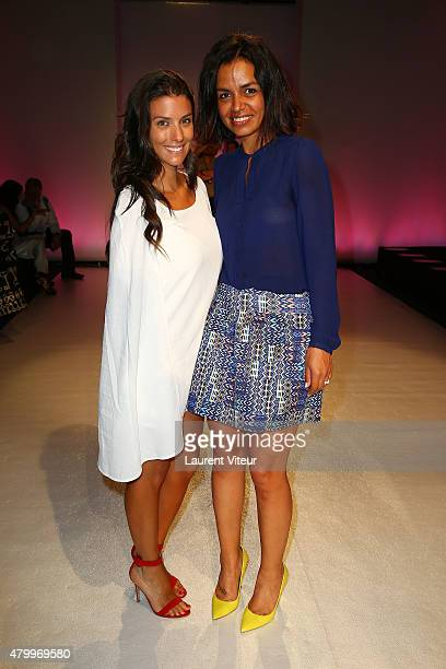 Ludivine Sagna and TV presenter Laurence Roustandjee attend the Danny Atrache show as part of Paris Fashion Week Haute Couture Fall/Winter 2015/2016...