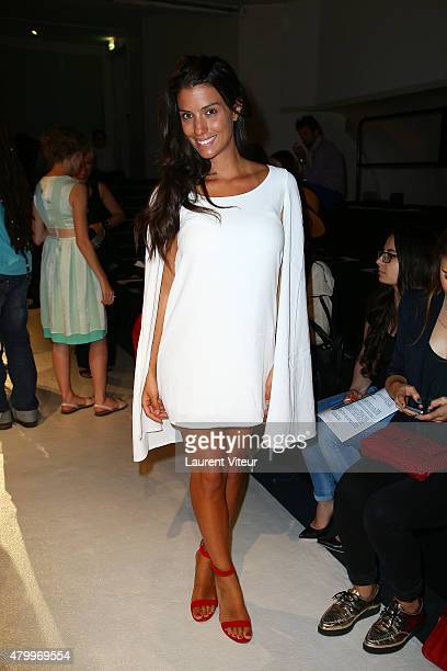 Ludivine Sagna attends the Danny Atrache show as part of Paris Fashion Week Haute Couture Fall/Winter 2015/2016 on July 8 2015 in Paris France