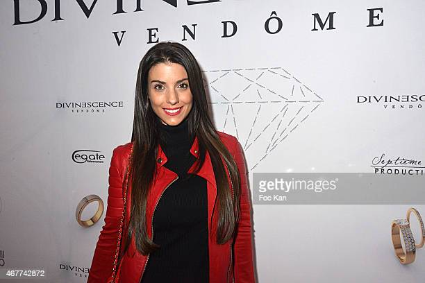 Ludivine Sagna attends the 'Diamond Night by Divinescence Vendome' Harumi Klossowska Jewellery Exhibition Preview As Part Of Art Paris Art Fair at...