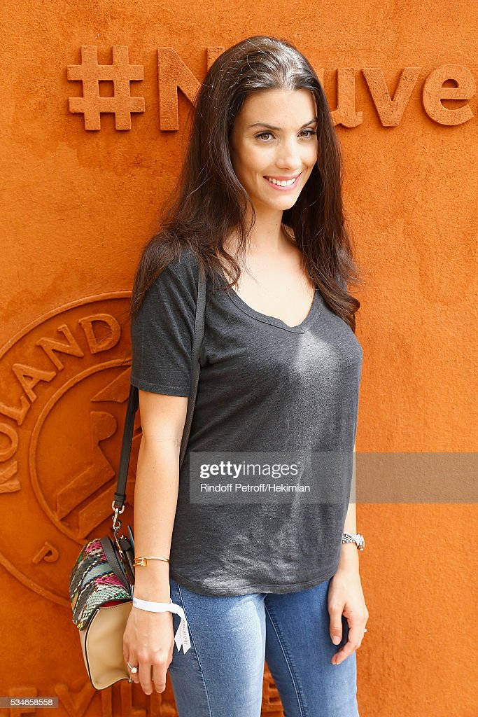Ludivine Sagna attends the French Tennis Open Day 6 at Roland Garros on May 27, 2016 in Paris, France.