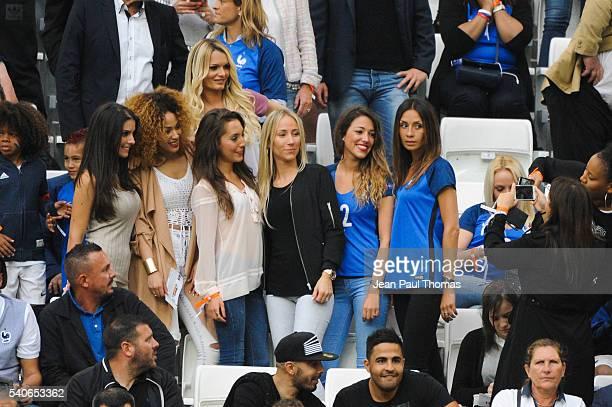 Ludivine Sagna Sephora girlfirend of kingsley Coman Tiziri Digne Sandra Evra Camille Sold Sarah Mandanda during the UEFA EURO 2016 Group A match...