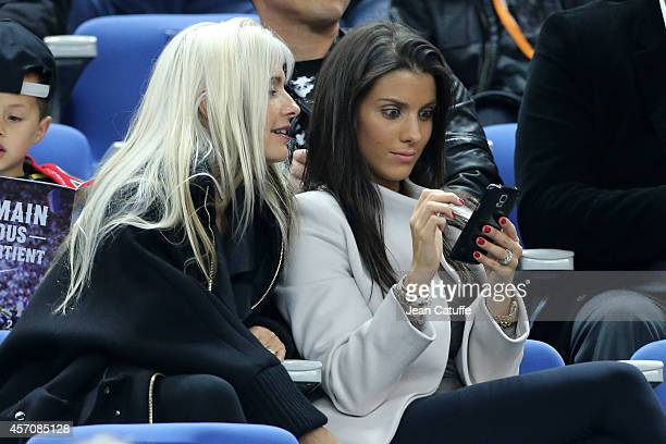 Ludivine Sagna wife of Bacary Sagna of France attends the international friendly match between France and Portugal at Stade de France on October 11...