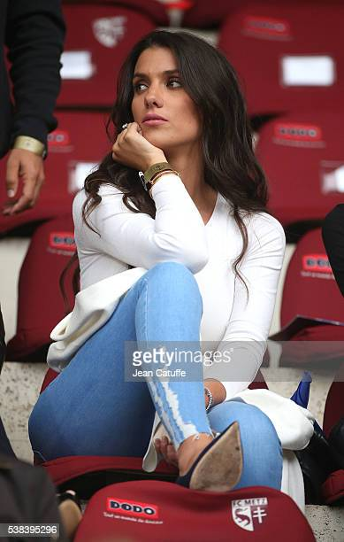 Ludivine Sagna wife of Bacary Sagna of France attends the international friendly match between France and Scotland at Stade Saint Symphorien on June...