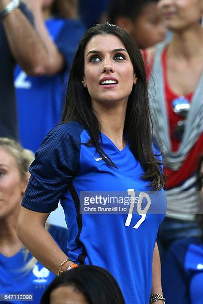 Ludivine Sagna wife of Bacary Sagna of France looks on during the UEFA Euro 2016 Semi Final match between Germany and France at Stade Velodrome on...