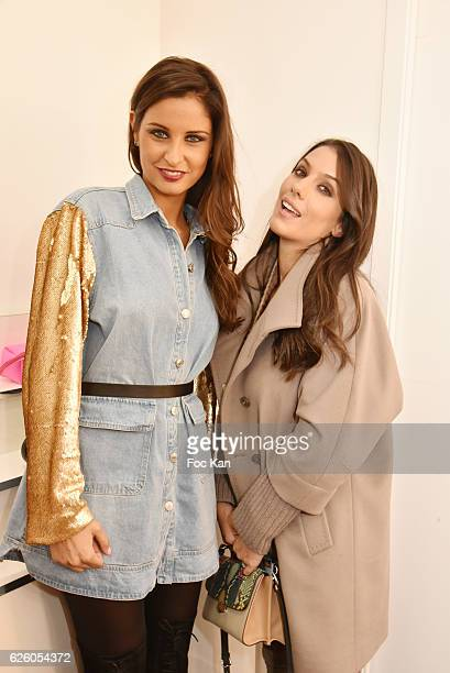 Ludivine Sagna wife of footballer Bacary Sagna and Miss France 2010 Malika Menard attend LA Girl Paris Cosmetics Launch and Fahaid Sanober 8TH...