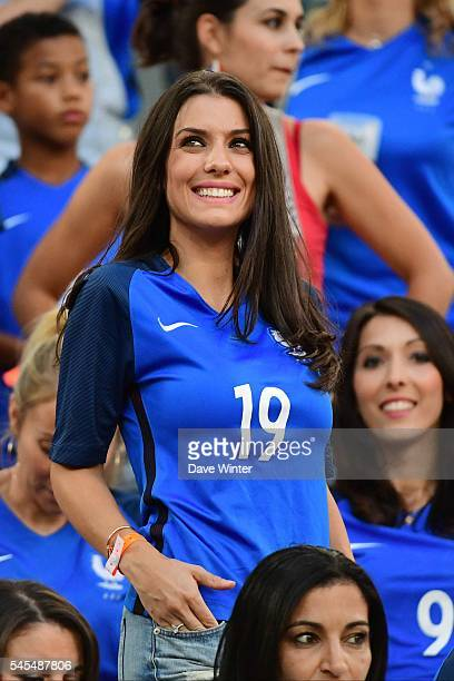 Ludivine Sagna wife of France's Bacary Sagna during the Uefa Euro Semi final between France and Germany at Stade Velodrome at Stade Velodrome on July...
