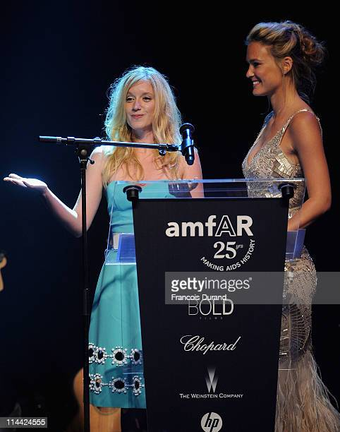 Ludivine Sagnier and Bar Refaeli onstage at amfAR's Cinema Against AIDS Gala during the 64th Annual Cannes Film Festival at Hotel Du Cap on May 19,...