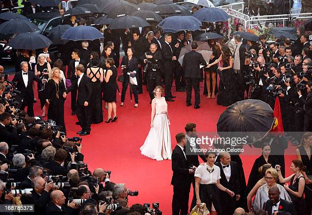 Ludivine Sagnier attends the Opening Ceremony and 'The Great Gatsby' Premiere during the 66th Annual Cannes Film Festival at the Theatre Lumiere on...