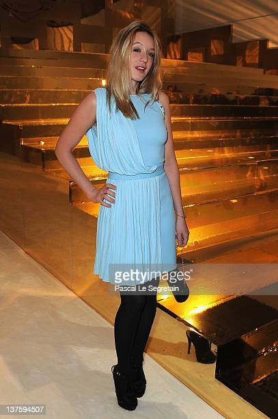 Ludivine Sagnier attends the Versace Haute Couture Spring/Summer 2012 show as part of Paris Fashion Week on January 23 2012 in Paris France