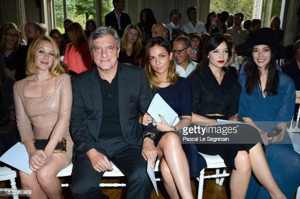 Ludivine Sagnier Sidney Toledano Julia Toledano Daisy Lowe and Tao Okamoto attend the John Galliano show as part of the Paris Fashion Week Womenswear...
