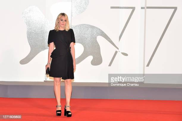 Ludivine Sagnier walks the red carpet ahead of the movie Spy No Tsuma at the 77th Venice Film Festival on September 09 2020 in Venice Italy
