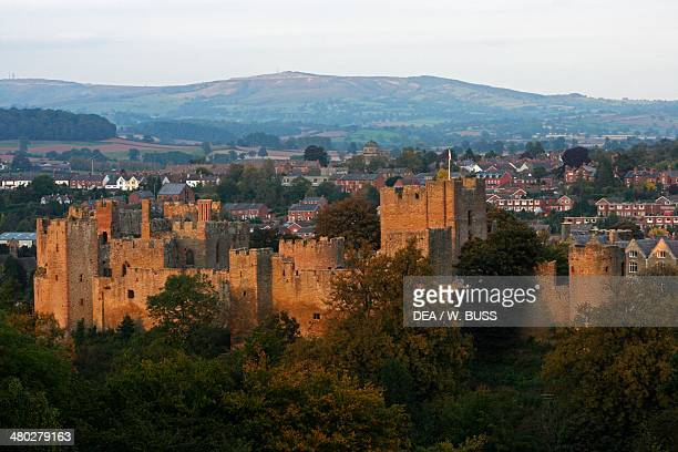 Ludlow castle Norman medieval and Tudor style Shropshire United Kingdom