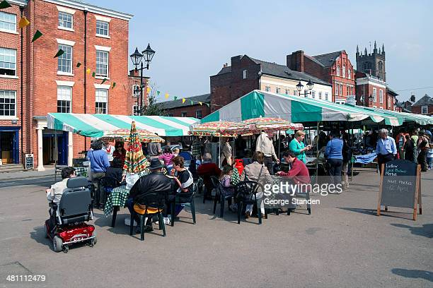 ludlow market - ludlow shropshire stock photos and pictures