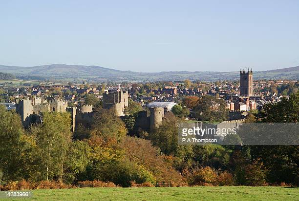ludlow, shropshire, england - ludlow shropshire stock photos and pictures