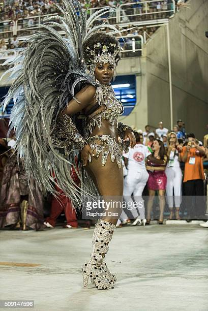 Ludmilla attends to the Rio Carnival in Sambodromo on February 8 2016 in Rio de Janeiro Brazil Despite the Zika virus epidemic thousands of tourists...