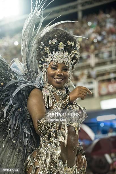 Ludmilla attends to the Rio Carnival in Sambodromo on February 8 2016 in Rio de Janeiro Brazil Despite the Zika virus epidemic thousands of tourists...