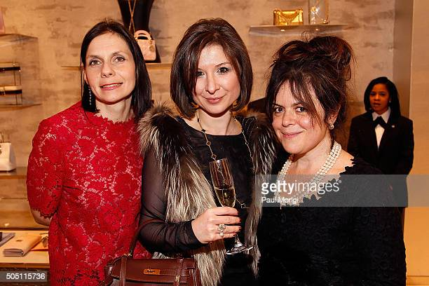 Ludmilla Cafritz Marianna Gray and Izette Folger attend the opening of the Dior boutique at CityCenterDC on January 14 2016 in Washington DC