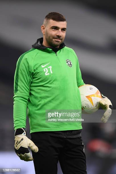 Ludogorets Razgrad's Vladislav Stoyanov during the prematch warmup before the UEFA Europa League Group J stage match between Tottenham Hotspur and...