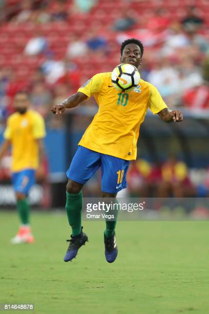Ludovic Baal of French Guiana controls the ball during the CONCACAF Gold Cup Group A match between Costa Rica and French Guiana at Toyota Stadium on...