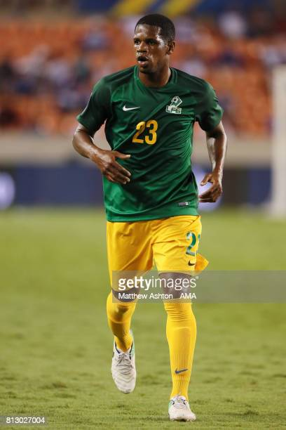 Ludovic Baal of French Guiana during the 2017 CONCACAF Gold Cup Group A match between Honduras and French Guiana at BBVA Compass Stadium on July 11...