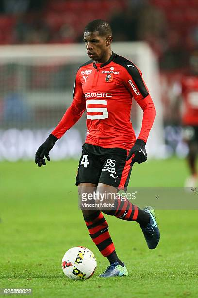 Ludovic Baal of Rennes during the French Ligue 1 match between Rennes and Toulouse at Roazhon Park on November 25, 2016 in Rennes, France.