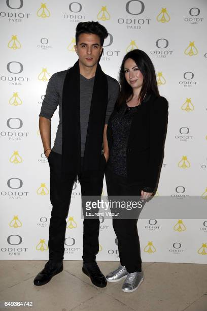 Ludovic Baron and Florence Cymerman attend 'Dessiner L'Or et L'Argent Odiot Orfevre' Exhibition Launch at Musee Des Arts Decoratifs on March 7 2017...