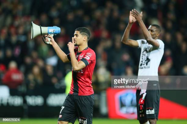 Ludovic Blas of Guingamp during the Ligue 1 match between EA Guingamp and AS Saint Etienne at Stade du Roudourou on December 20 2017 in Guingamp