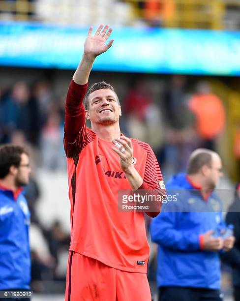 Ludovic Butelle goalkeeper of Club Brugge celebrates the win pictured during Jupiler Pro League match between Club Brugge KV and KAA Gent on OCTOBER2...