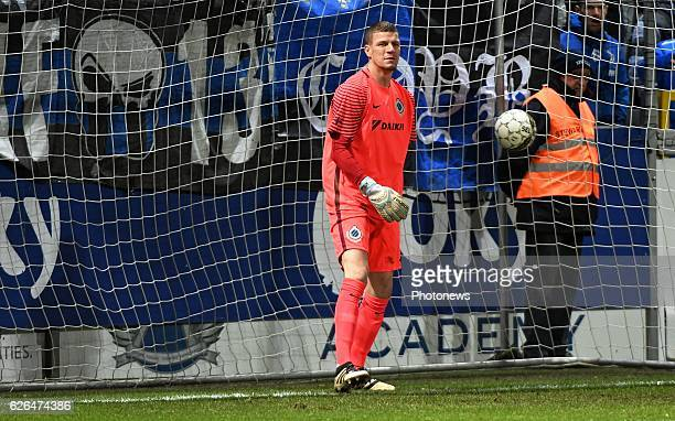 Ludovic Butelle goalkeeper of Club Brugge pictured during Croky cup 1/8 F match between KASEupen and Club Brugge KV on November 29 2016 in Eupen...