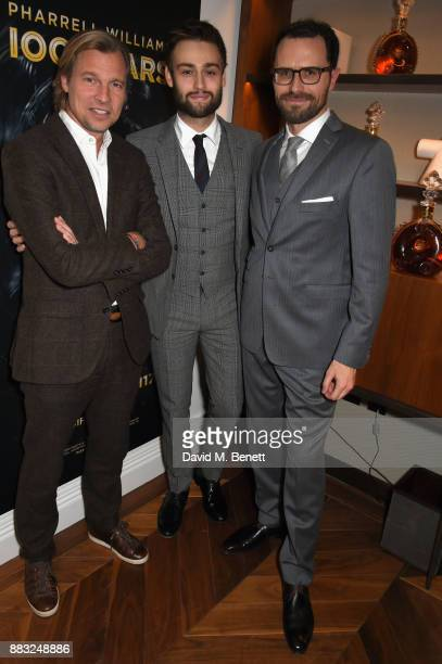 Ludovic du Plessis Douglas Booth and Amaury Vinclet attend as LOUIS XIII and Dylan Jones GQ Editor in Chief cohost Intimate Dinner Celebrating the...