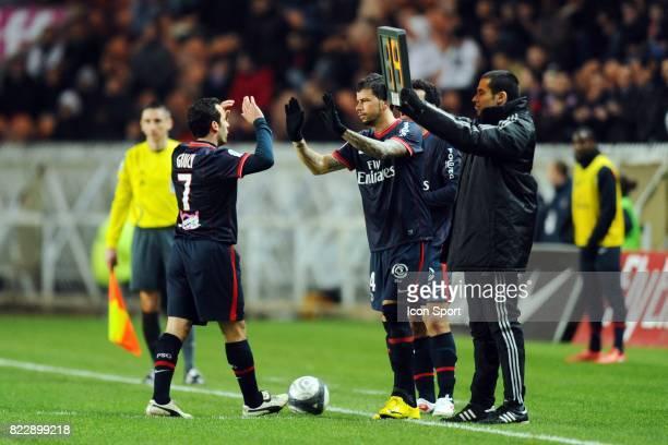 Ludovic GIULY / Mateja KEZMAN PSG / Sochaux 28eme journee de ligue 1 Parc des Princes Paris