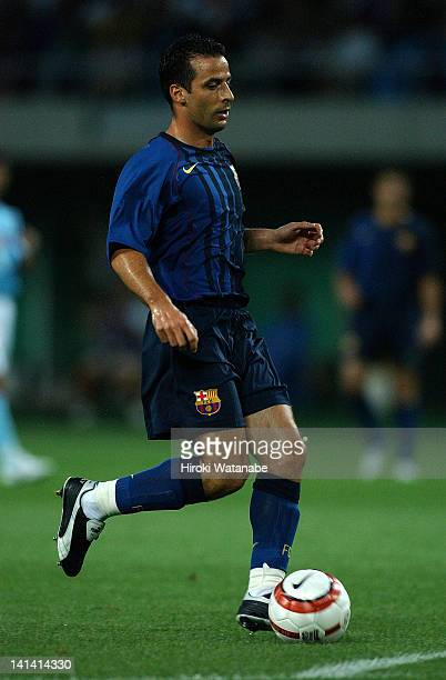 Ludovic Giuly of Barcelona in action during the preseason friendly match between Jubilo Iwata and FC Barcelona at Shizuoka Stadium Ecopa on August 4...