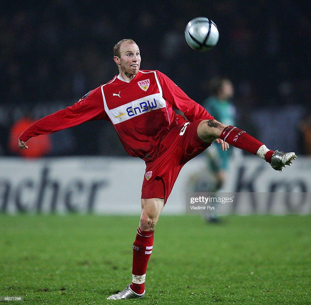 Ludovic Magnin of Stuttgart in...