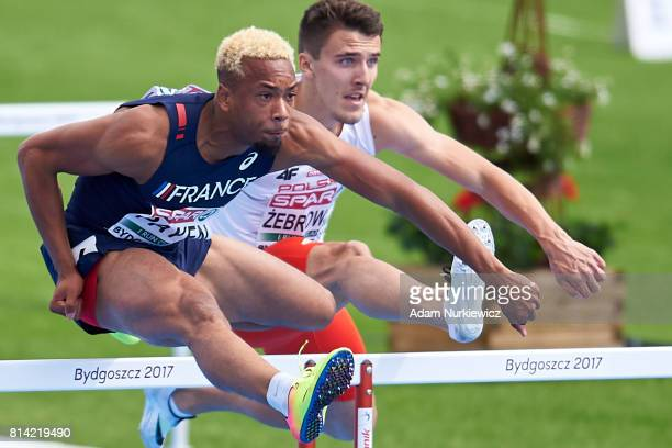 Ludovic Payen from France competes in men's 110m hurdles qualification during Day 2 of European Athletics U23 Championships 2017 at Zawisza Stadium...