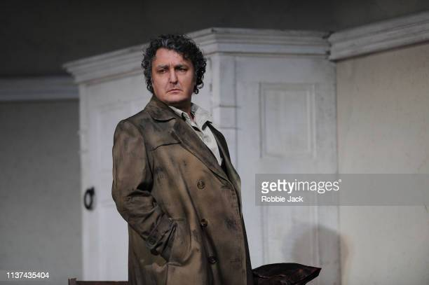 Ludovic Tezier as Don Carlo di Vargas in The Royal Opera's production of Giuseppe Verdi's La forza del destino directed by Christof Loy and conducted...