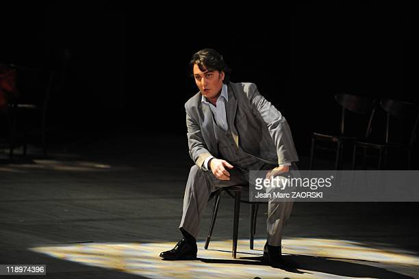 Ludovic Tezier in La Traviata an opera in three acts by Giuseppe Verdi during the Festival of Aix en Provence in Aix en Provence in France on July 1...
