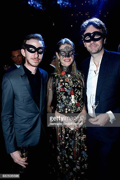 Ludovic WatinArnault Natalia Vodianova and Antoine Arnault attend the Christian Dior Haute Couture Spring Summer 2017 Bal Masque as part of Paris...