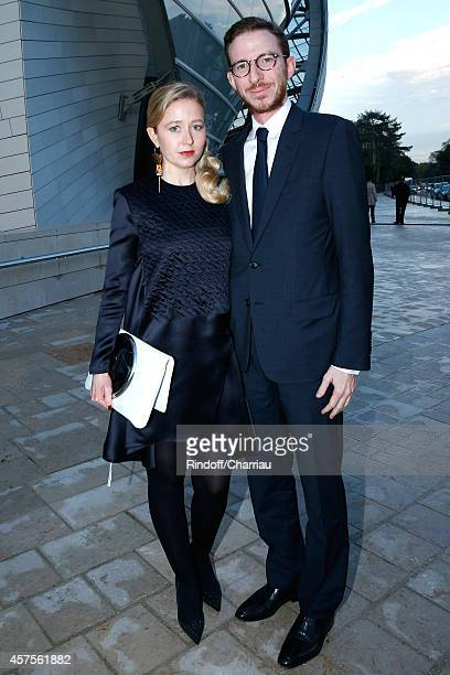 Ludovic Watine Arnauld and his sister Stephanie Watine Arnault attend the Foundation Louis Vuitton Opening at Foundation Louis Vuitton on October 20...