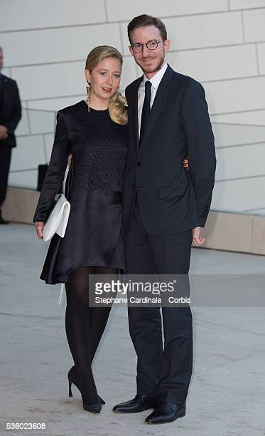 Ludovic Watine Arnauld and his sister Stephanie Watine Arnault attend the Inauguration of the Louis Vuitton Foundation on October 20 2014 in Paris...