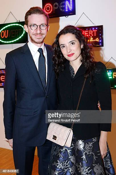 Ludovic Watine Arnault and actress Isabelle Vitari attend the Societe des Amis du Musee National d'Art Moderne Dinner at Beaubourg on January 20 2015...
