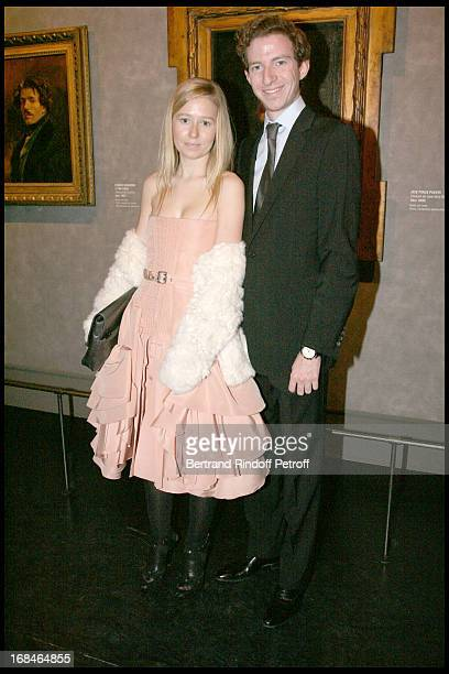 Ludovic Watine Arnault and his sister Stephanie at Private Viewing Of The Exhibition Picasso Et Les Maitres At Grand Palais In paris
