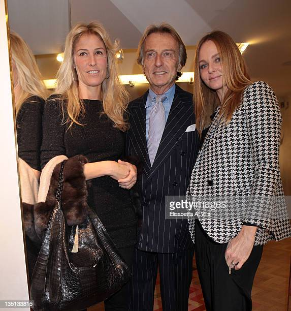 Ludovica Andreoni Luca Cordero Di Montezemolo and Stella McCartney attend the Christmas Lights Cocktail Party at the Stella McCartney boutique on...