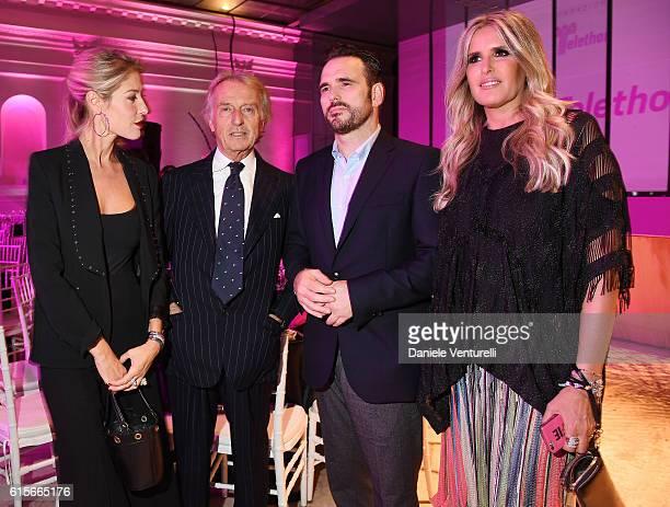 Ludovica Andreoni Luca Cordero di Montezemolo Matt Dillon and Tiziana Rocca attend the Telethon Gala during the 11th Rome Film Fest on October 19...