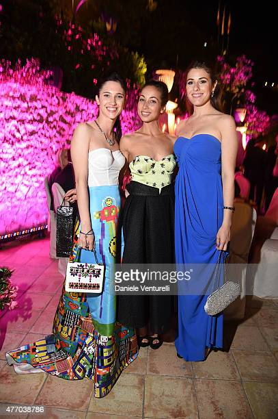 Ludovica Camello Tess Masazza and Diana Del Bufalo attend the 61th Taormina Film Fest Gala Dinner Opening Cerimony on June 13 2015 in Taormina Italy
