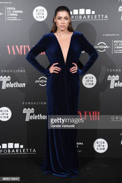 Ludovica Frasca attends Telethon Gala during the 12th Rome Film Fest at Villa Miani on October 30 2017 in Rome Italy