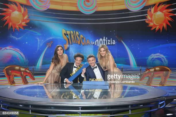 Ludovica Frasca Ficarra Picone and Irene Cioni attend the 'Striscia La Notizia' Tv Show on February 6 2017 in Milan Italy